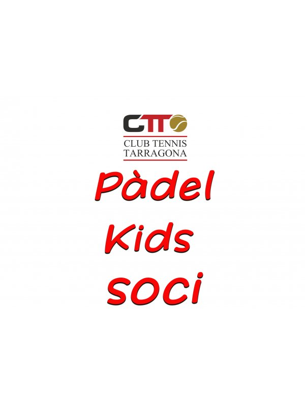 pÁdel kids - t20/21 (reserva plaza socios/as)