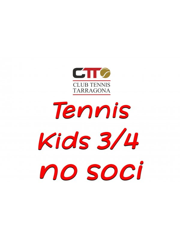 tennis kids tip 3/4 - t20/21 (reserva plaza no socios/as)