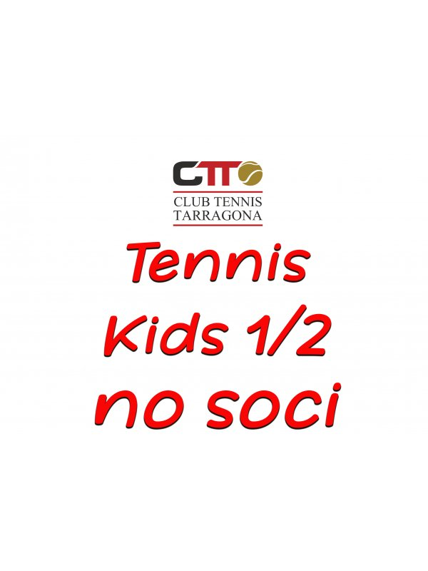 tennis kids tip 1/2 - t20/21 (reserva plaza no socios/as)